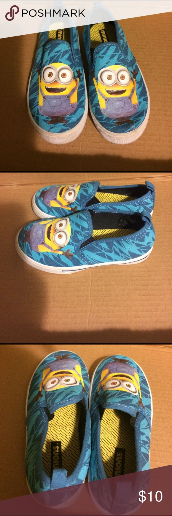 Minions shoes Cute slip on minion shoes!  Never fit my kid right so only worn once or twice. minions Shoes Sneakers
