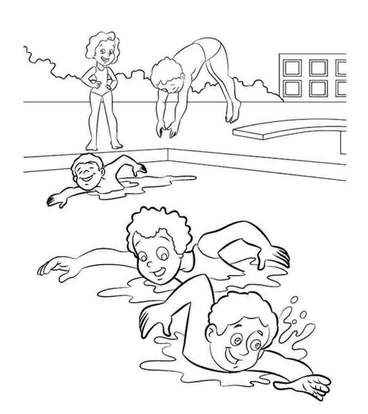 Coloring festival Swim coloring pages More than 99