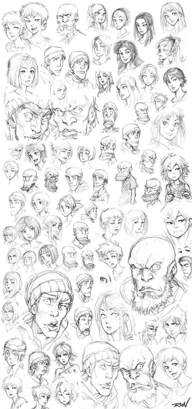 2010 - Sketch Dump 1 by Runshin