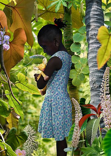 WORLD #4 Cibachrome photograph by Ruud van Empel