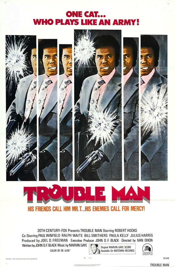"Robert Hooks in ""Trouble Man"" (1972) Directed by Ivan Dixon and Music Composed and Performed by Marvin Gaye"