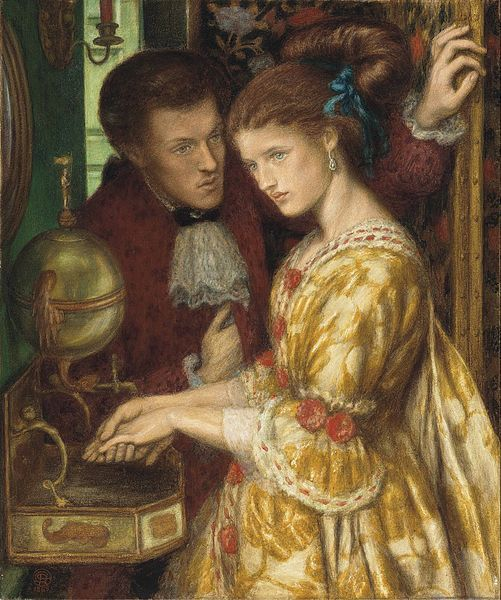 Dante Gabriel Rossetti, Washing the hands. 1865. Private Collection.