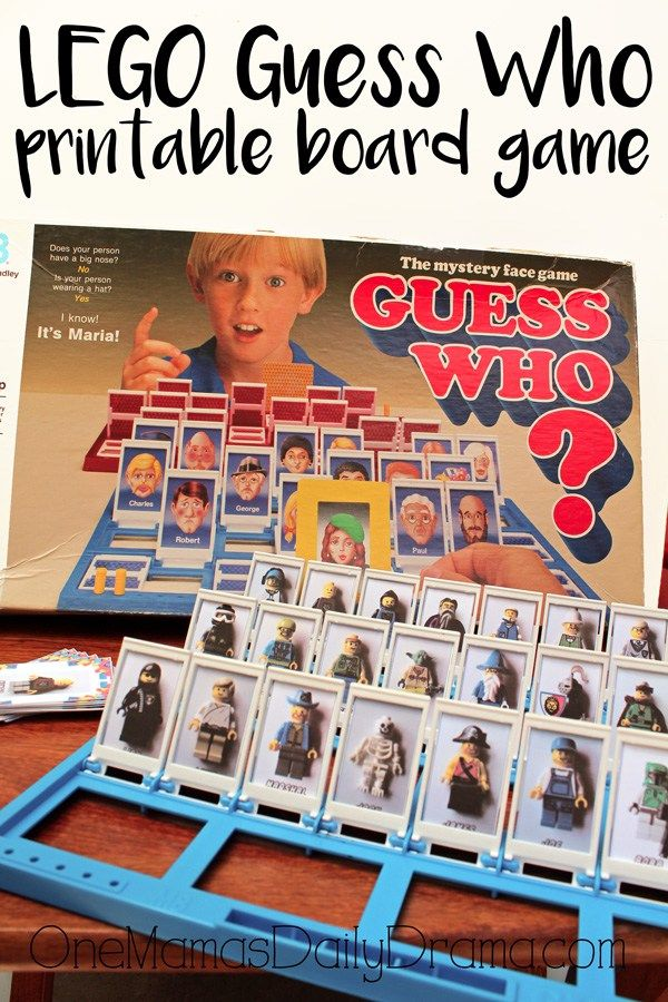 LEGO Guess Who printable board game | Update an old family favorite game with…