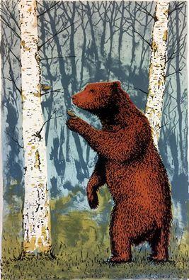 'Tender Bear' by Tim Southall (silkscreen print)