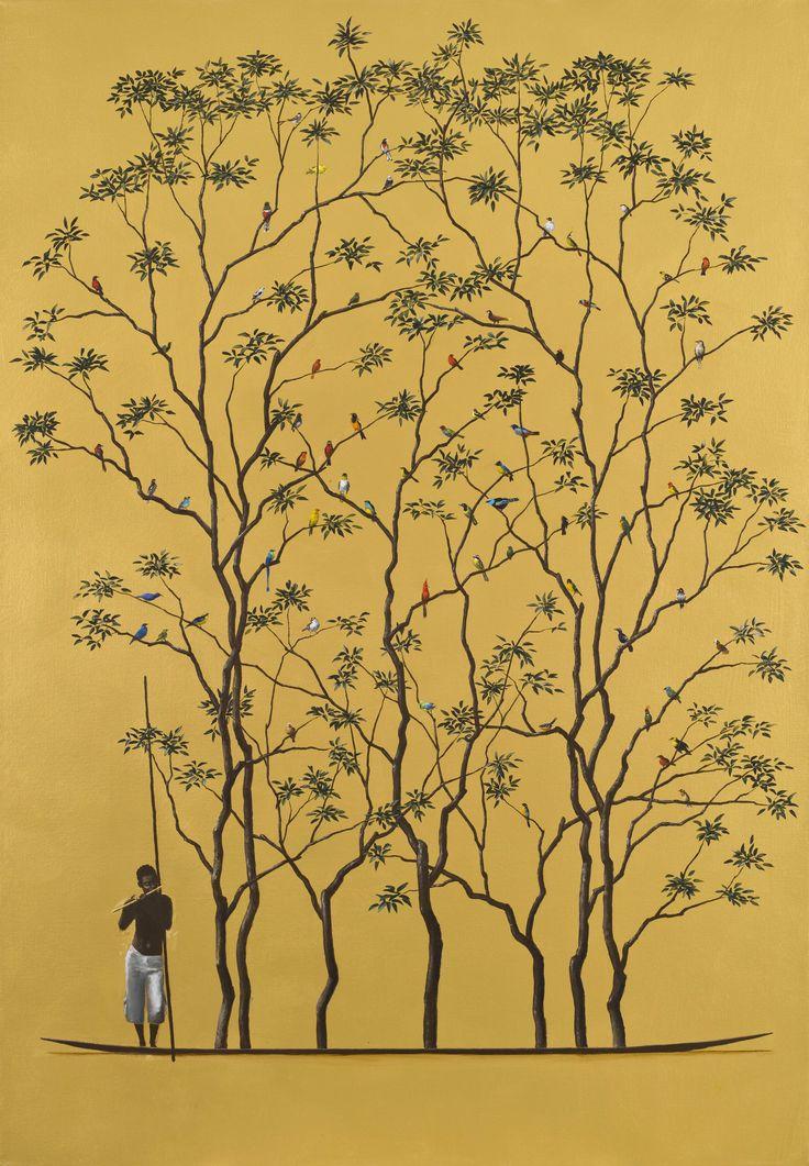 Musica Sagrada Acrílico sobre tela 100 X 70 cms Pedro Ruiz