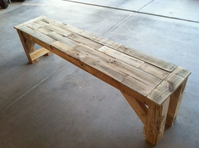 Our signature pallet bench-Kiva bench, our most popular product. 100% made