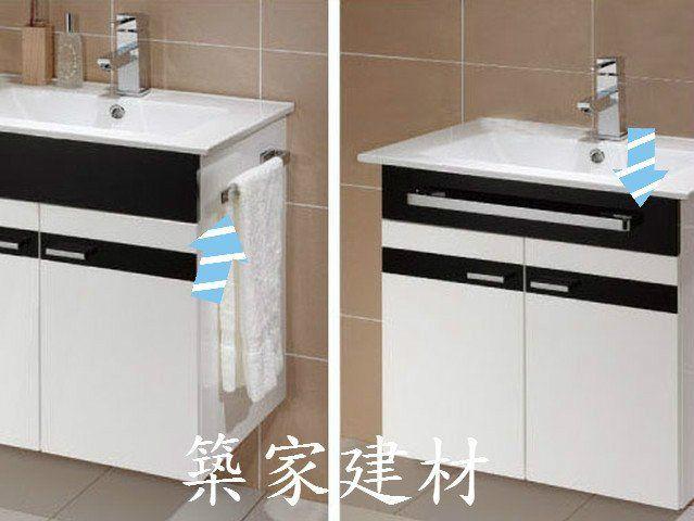 【築家建材】Corins 柯林斯衛浴 100%防水 黑白風情 方型陶瓷臉盆浴櫃組 SN-05B-60T 60cm03