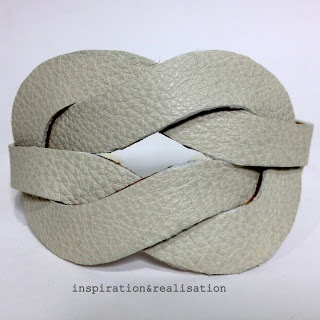 DIY leather illusion knot cuff