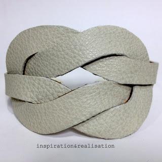 DIY leather illusion knot cuff