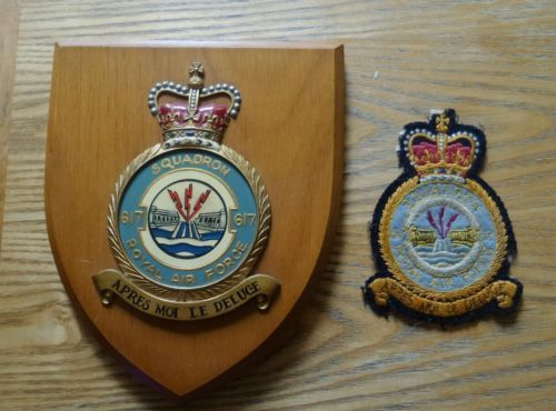 Raf Royal Air Force Squadron 617 Military Wooden Wall