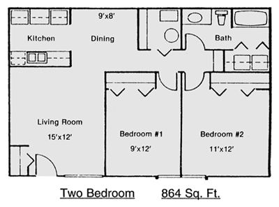 33 best images about floorplans on pinterest 1 bedroom for Small two bedroom apartment floor plans