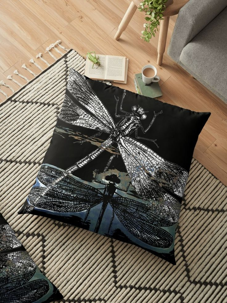 #art #dragonfly #kunst #pod #piaschneider #redbubble #kissen #pillows #dekoration #homedecor  Vintage Dragonflies with abstract paintings. ©2016 by Pia Schneider, atelier COLOUR-VISION • Also buy this artwork on home decor, apparel, stickers und more.