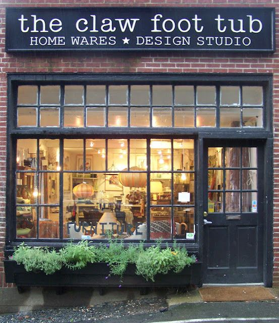 The Claw Foot Tub | signage {love this store front and signage}