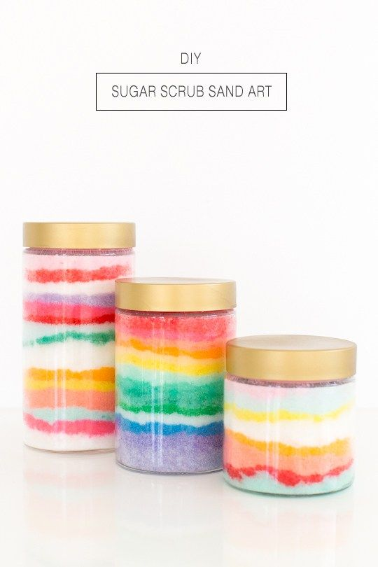 DIY sugar scrub sand art - Sugar & Cloth