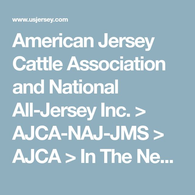 American Jersey Cattle Association and National All-Jersey Inc. > AJCA-NAJ-JMS > AJCA > In The News > The Jersey (Bonnie Mohr)