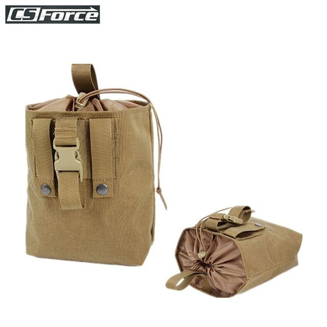 Tactical Molle Magazine Ammo Tools Dump Drop Pouch Bag Foldable Airsoft Hunting