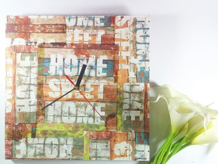 Clock face #egloryproject #decoupage #indonesia