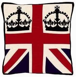 Gorgeous Union Jack & Crowns Tapestry Kit from @QNeedlecraft #diamondjubilee