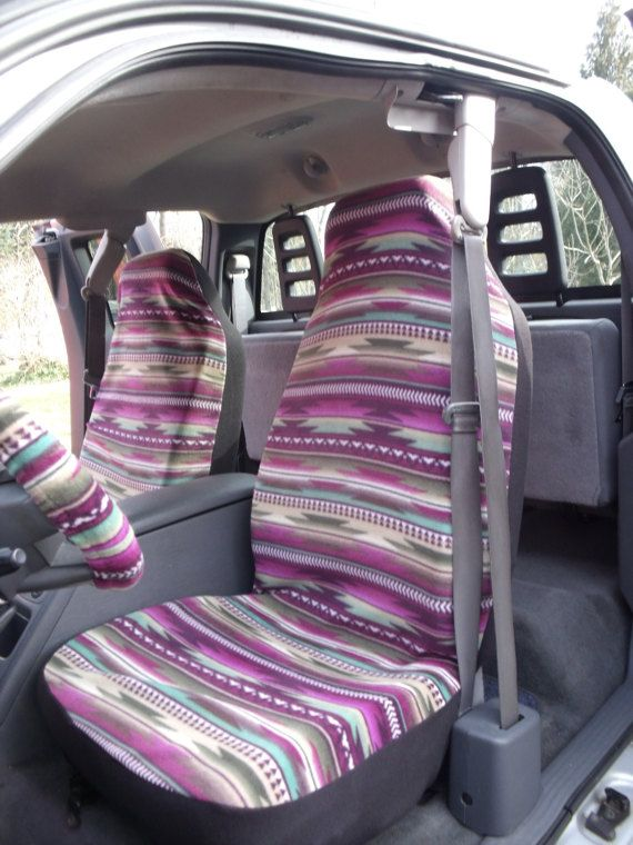 1+Set+of+Southwest+Purple+Stripe+Print,+Car+Seat+Covers+and++steering+wheel+cover+custom+made.