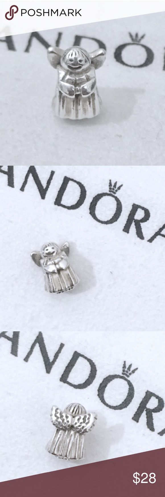 Pandora angel charm sterling silver angel of hope Authentic pandora charm. Pandora angel charm with textured angel wings. Sterling silver charm, stamped with 925 Ale on the bottom. *Price is for the charm only, does not include cloth or bracelet, sorry I not have the box* • Bundle to save! • No trades • No holds #Pandora charm, Pandora angel charm, angel Pandora charm, Pandora angel wings charm, Pandora Christmas angel, Christmas Pandora charm, Pandora Christmas charm, Pandora angel of…