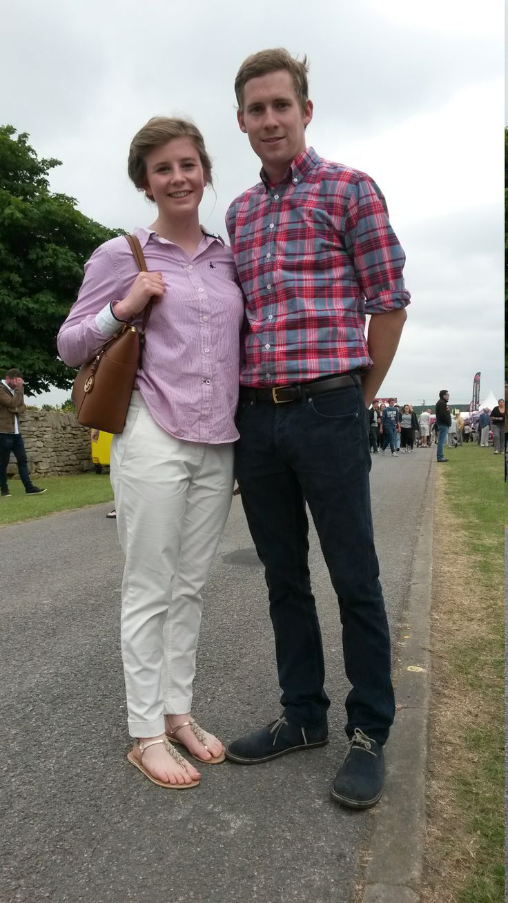 We thought this couple are perfectly dressed for a summer days out. George Pickering from Alford has got 'smart-casual' right on the button, and we love the white jeans worn by Leah Tokelove from Woodhall Spa. Similar jeans can be found in our ladieswear department at Luck of Louth.