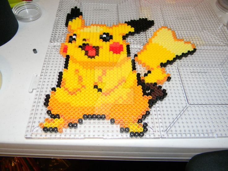 Female Pikachu Perler Sprite by PetitePikaPika on DeviantArt