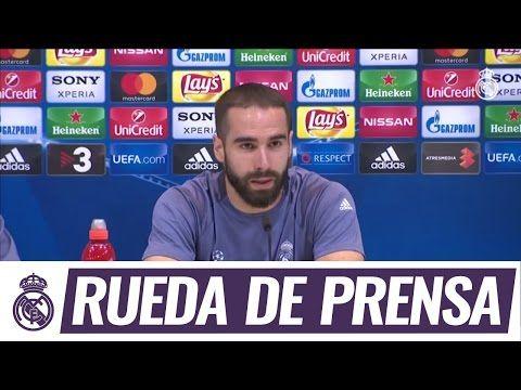 Carvajal compareció junto a Zidane en la sala de prensa de la Ciudad Real Madrid - YouTube