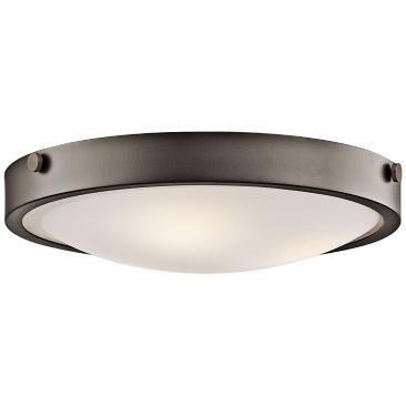"""Kichler Lytham 17 1/2"""" Wide Olde Bronze Ceiling Light"""