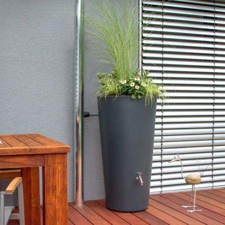 Regenspeicher 160 L Rainbowl Flower anthrazit – Bild 1