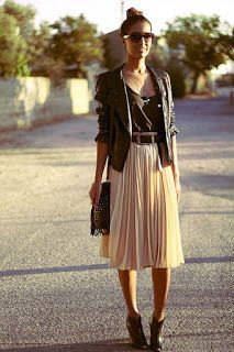 How to wear... Midi Skirts. Beautiful, classy skirt with an edge.
