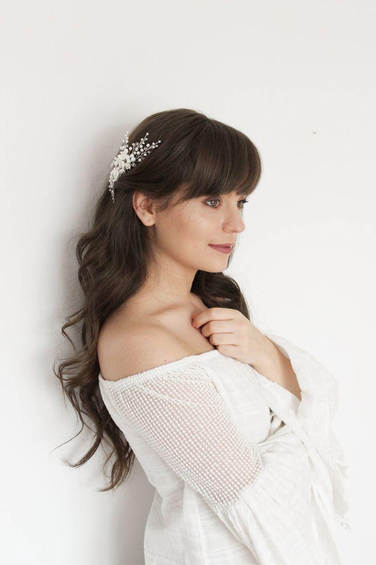 SARAH | Wedding hair accessories, bridal hair comb, bridal headpiece, floral hair comb, wedding hair comb, peigne cheveux mariage, tiara,