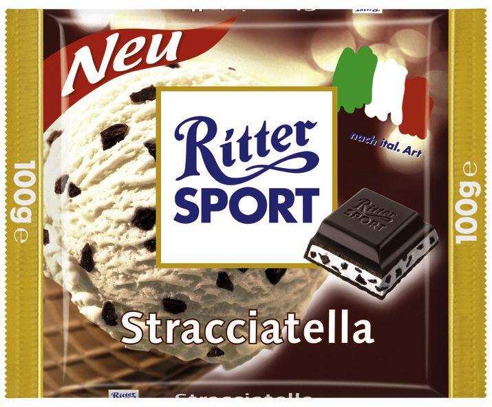 Die Sorte RITTER SPORT Stracciatella aus dem Jahr 2004 (Länderpromo)