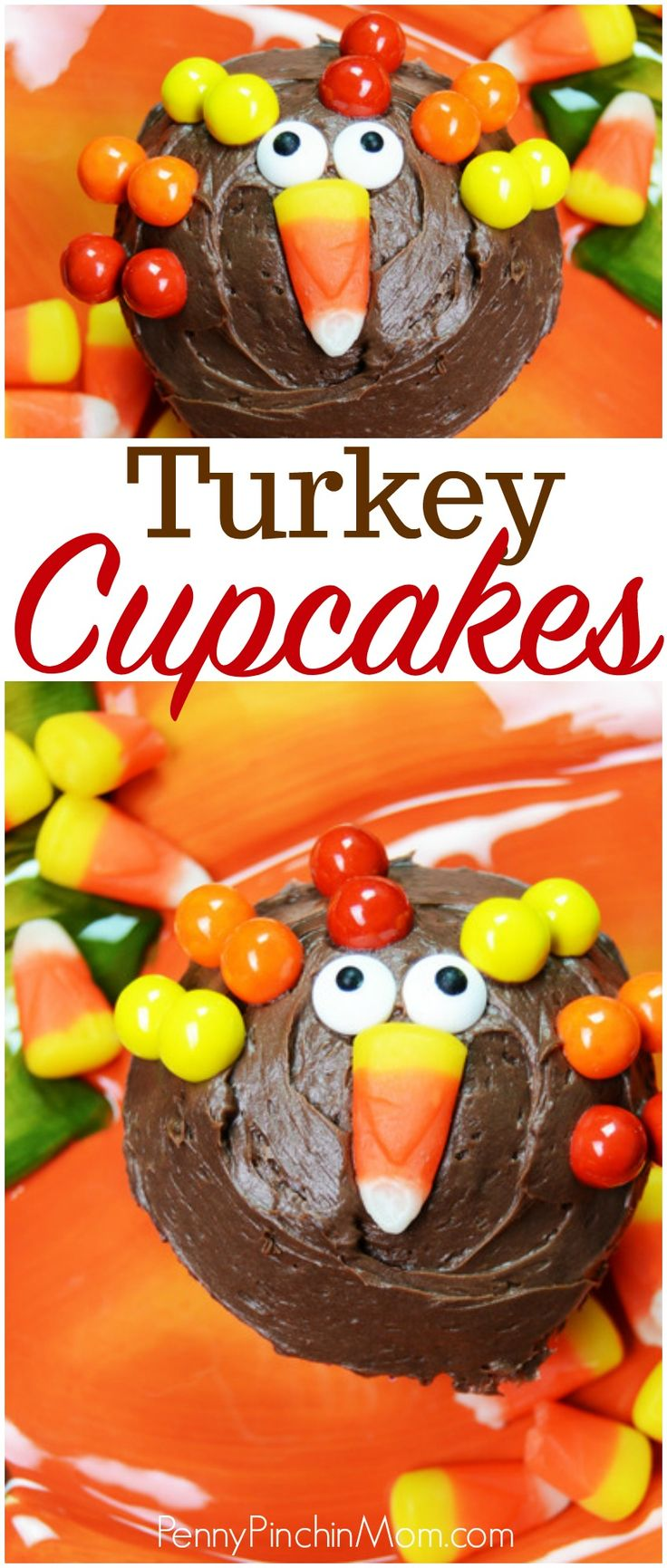 Turkey Cupcakes | Kid's Thanksgiving | Kid Friendly Thanksgiving Recipe | Turkey Cupcake Recipe | Easy Thanksgiving Dessert |  #Thanksgiving #Kids #cupcakes
