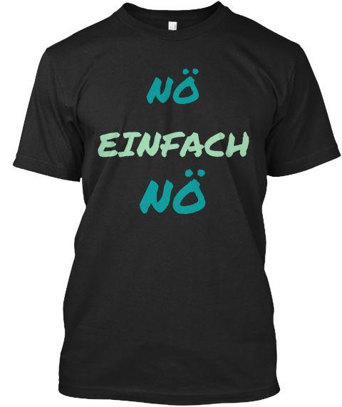 NÖ Einfach NÖ Black T-Shirt Front