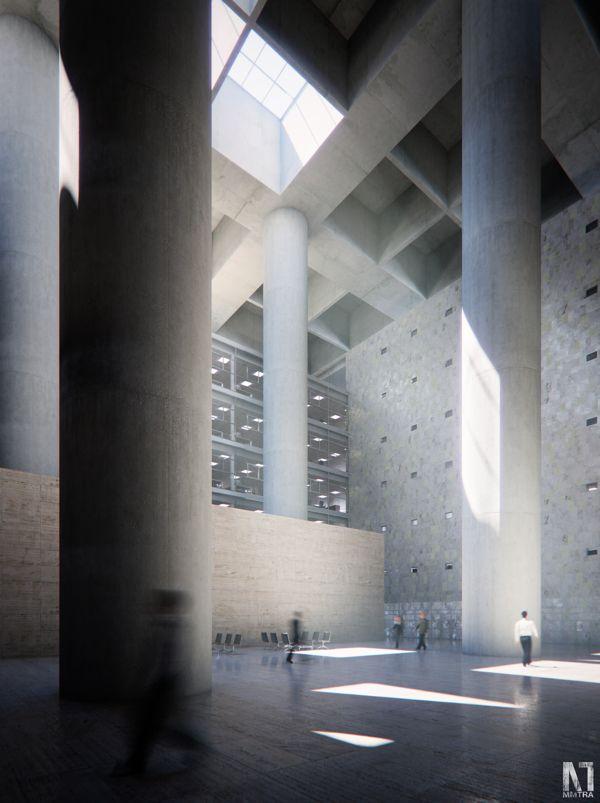 Caja de Granada - Evermotion Rendering Competition on Behance