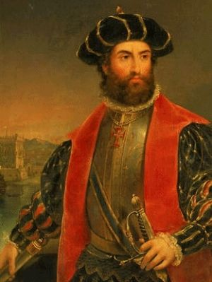 Vasco de Gama  Portuguese sailor and explorer late 1400's-early 1500's  Helped make Portugal rich & powerful when he established the trade route from Portugal east to India