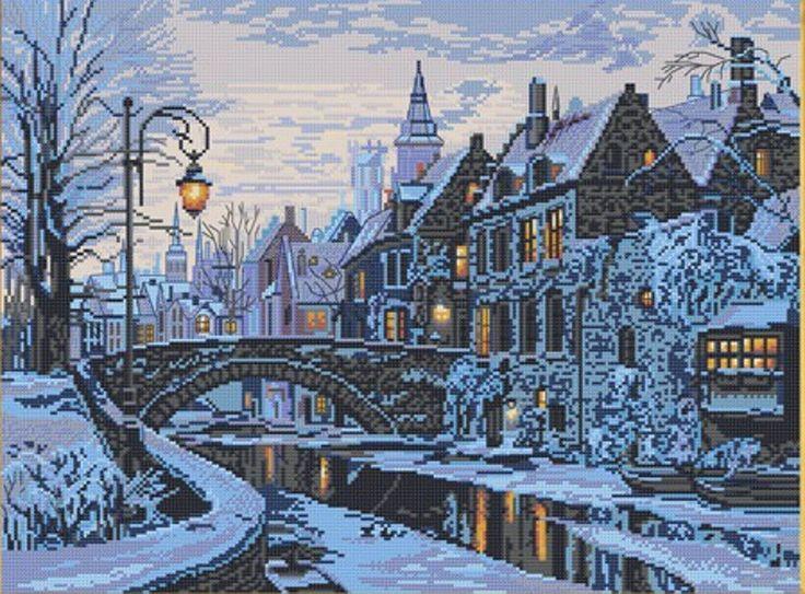 NOVA SLOBODA   Counted cross stitch kit   WINTER  EVENING   PE3327   Ebay seller decoloisirs37