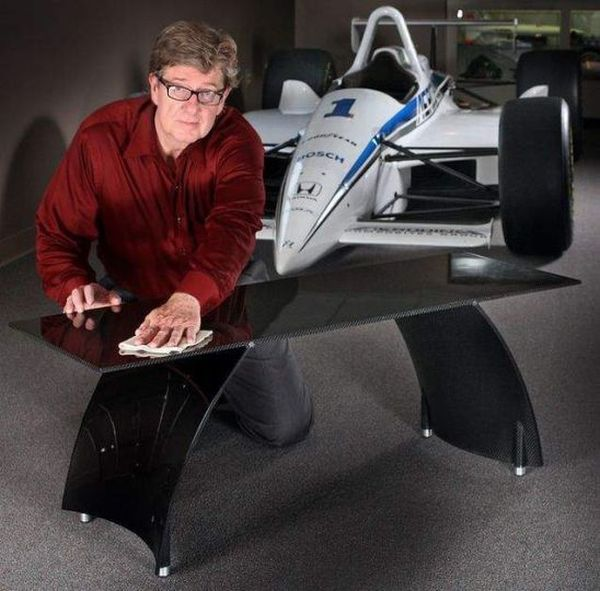 AVA Coffee tablet Presenting An All New Line Of Carbon Fiber Tables Inspired From F1 Racing Cars