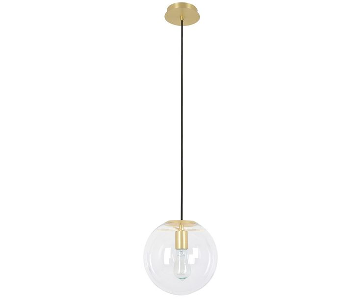 Marcel 250mm Pendant in Clear/Brass