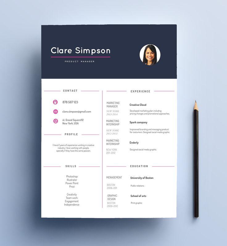 Unique Resume Design Made By Cvdesign Find Us On Etsy