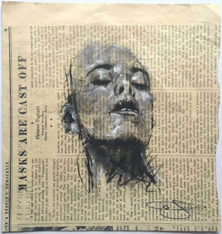 "Beautiful portrait drawing from english artist Guy Denning ""Head study (2085)""…"