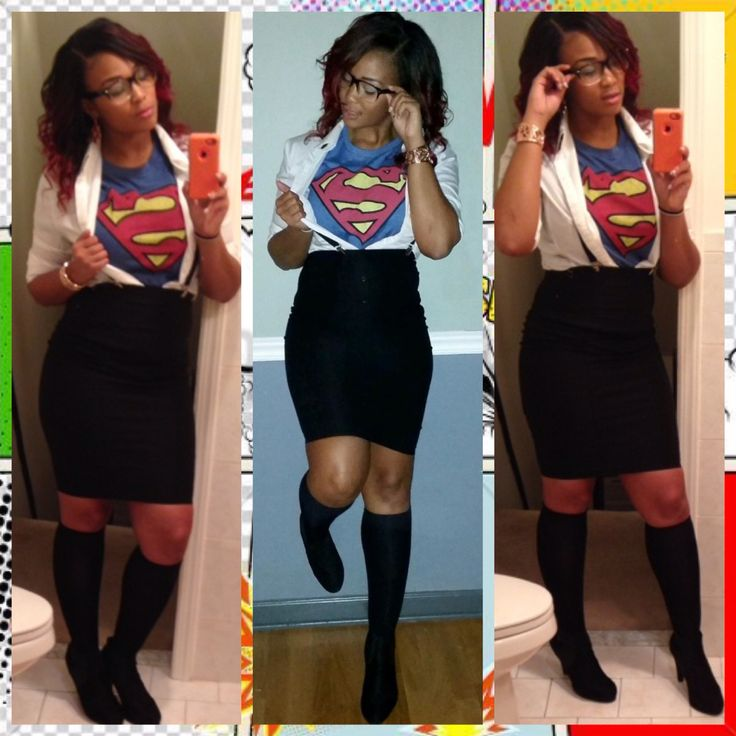my superwoman diy costume inspired by pinterest - 2017 Halloween Themes