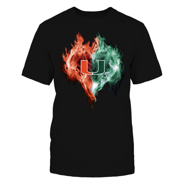Miaimi Hurricanes on Fire. Officially licensed and only available  HERE! Click to view more colors and styles, including a Miami Hurricanes men's  t-shirt, women's t-shirt, hoodie, tank top, long sleeve t-shirt, crew  sweatshirt and stickers. Please note this is an affiliate link and we may earn  a small commission on purchases at no extra cost to you. Thanks and go Canes!   Miami clothes | Miami sweatshirt | Miami outfits | Miami t-shirts | #MiamiHurricanes  #TheU #ItsAllAboutTheU