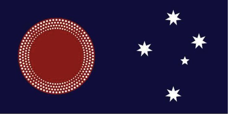 Joseph O'Donoghue https://web.facebook.com/joseph.odonoghue?fref=ufi In my opinion - it's an inevitability that the Union Jack will one day be removed from the Australian flag. With that in mind, I've been following a community on FB that encourages new flag designs. Most of the designs utterly miss the mark - but you get the odd great one. I thought this one was an absolute corker! #Ausflags