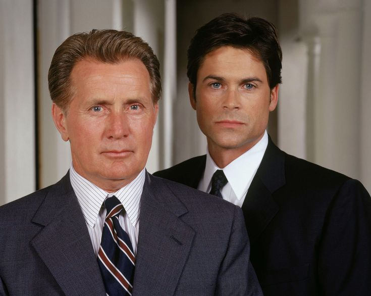 Rob Lowe as Sam Seaborn in The West Wing {With Martin Sheen as Jed Bartlett}