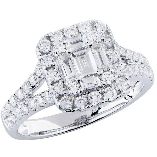 Preowned 1.15 Carat Diamond Fashion Ring ($3,950) ❤ liked on Polyvore featuring jewelry, rings, fashion rings, multiple, 18k diamond ring, 18 karat white gold ring, diamond jewellery, 18k ring and 18 karat gold ring