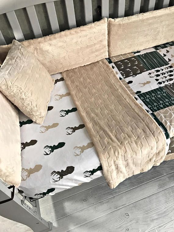 Such an awesome baby/toddler crib set. Takes 3-4 weeks to ship out. Excludes Wild things - message me if you want this in wild things prints. Message me a picture of the print you want so that we can discuss ideas. There is an option to add bumpers. They will have the same minky as blanket