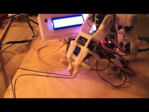 Arduino controlled micro robot arm