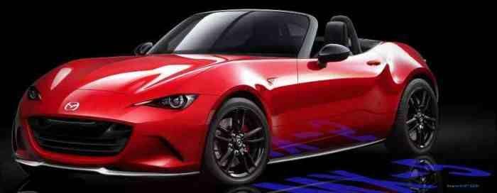 Renderings of the new Mazda MX-5