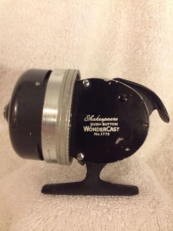 Vintage fishing reel shakespeare push button wondercast no for Push button fishing reel